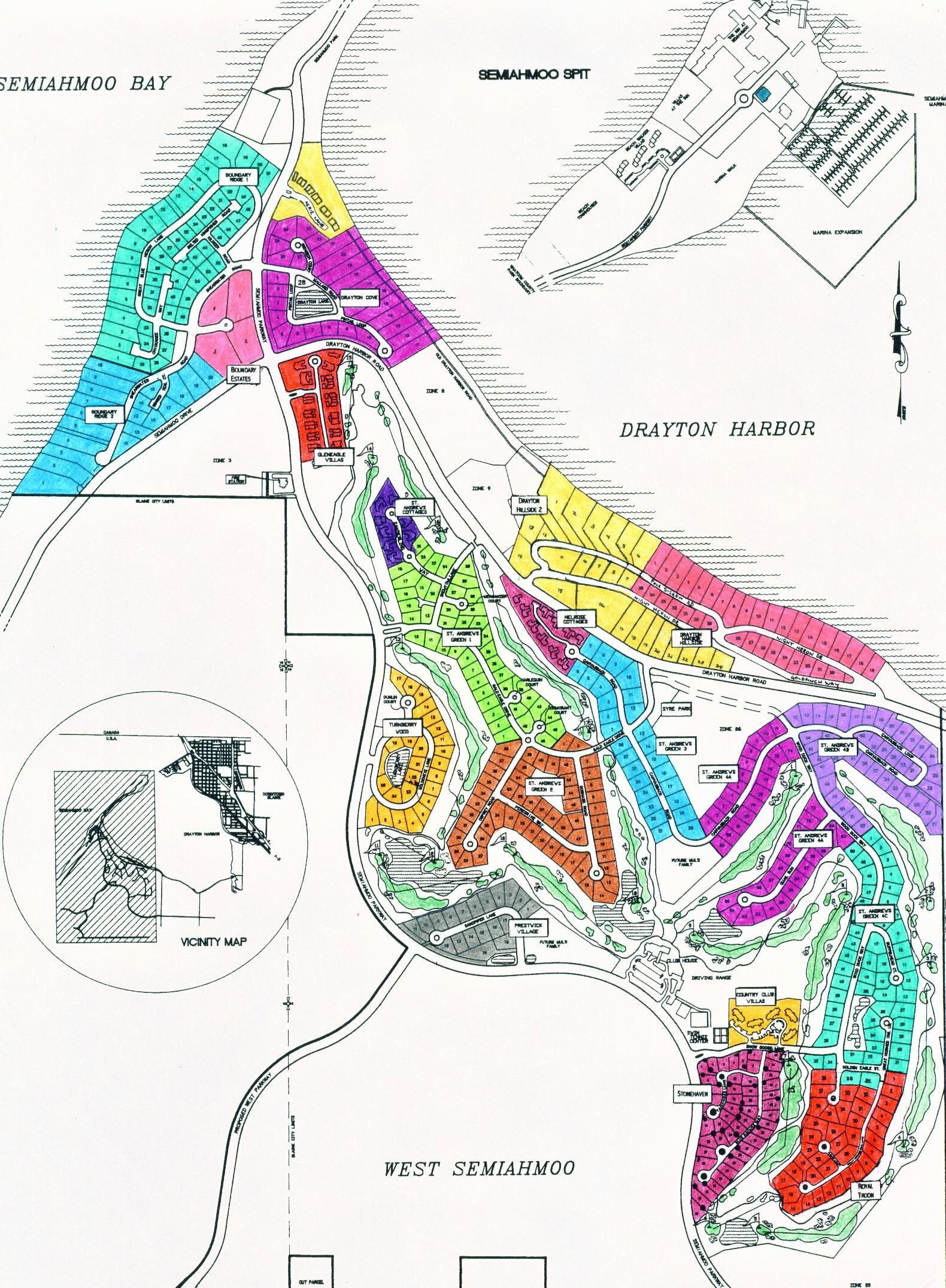 Semiahmoo Community Map Semiahmoo Resort Association